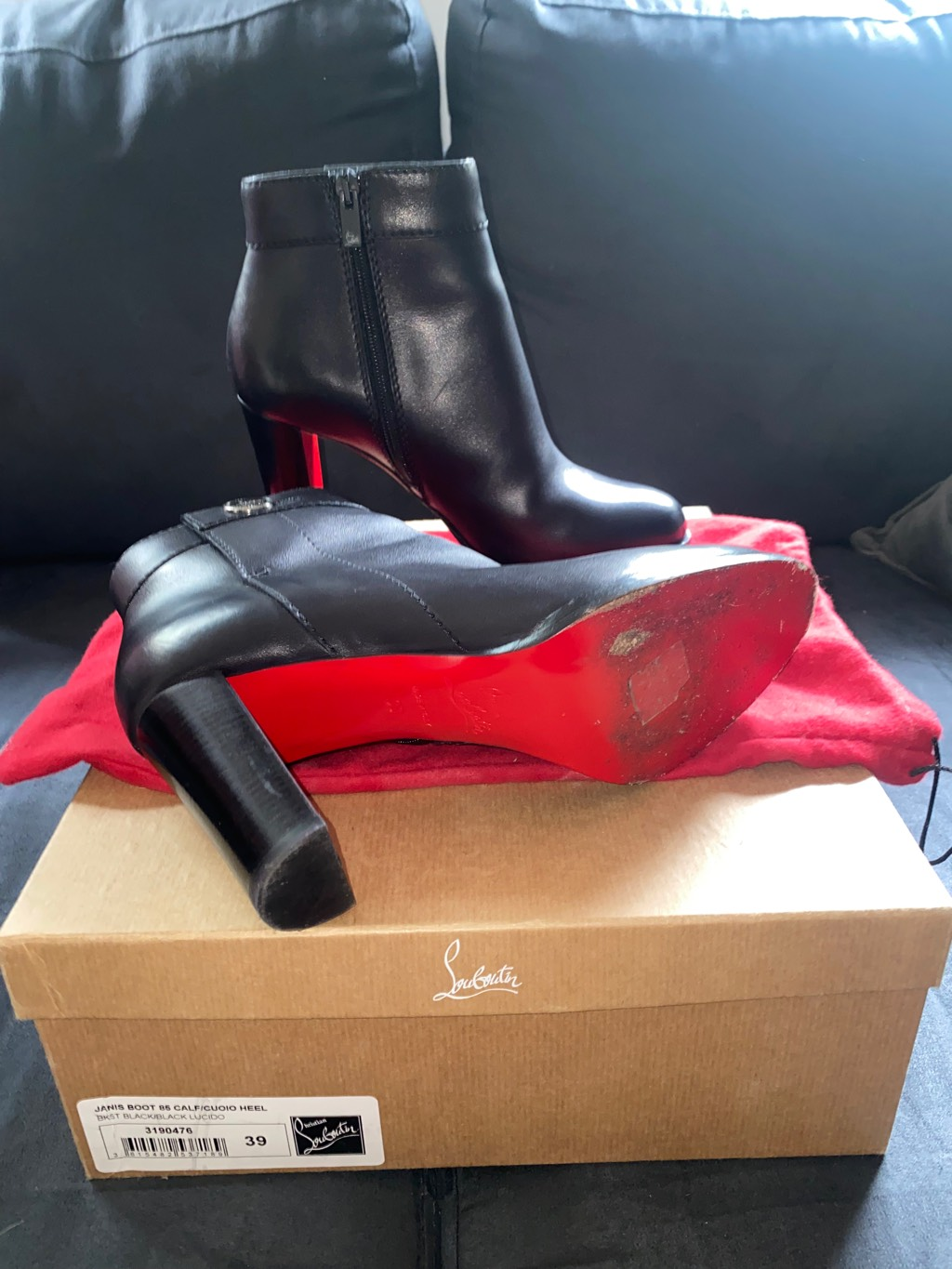 Christian Louboutin Jenis Boots 85 calf WORN ONLY ONCE FEW HOURS Christian Louboutin4