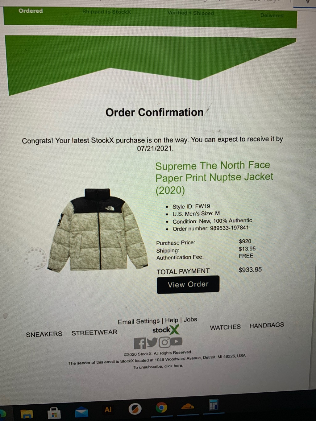 Supreme The North Face jacket with receiptSupreme0
