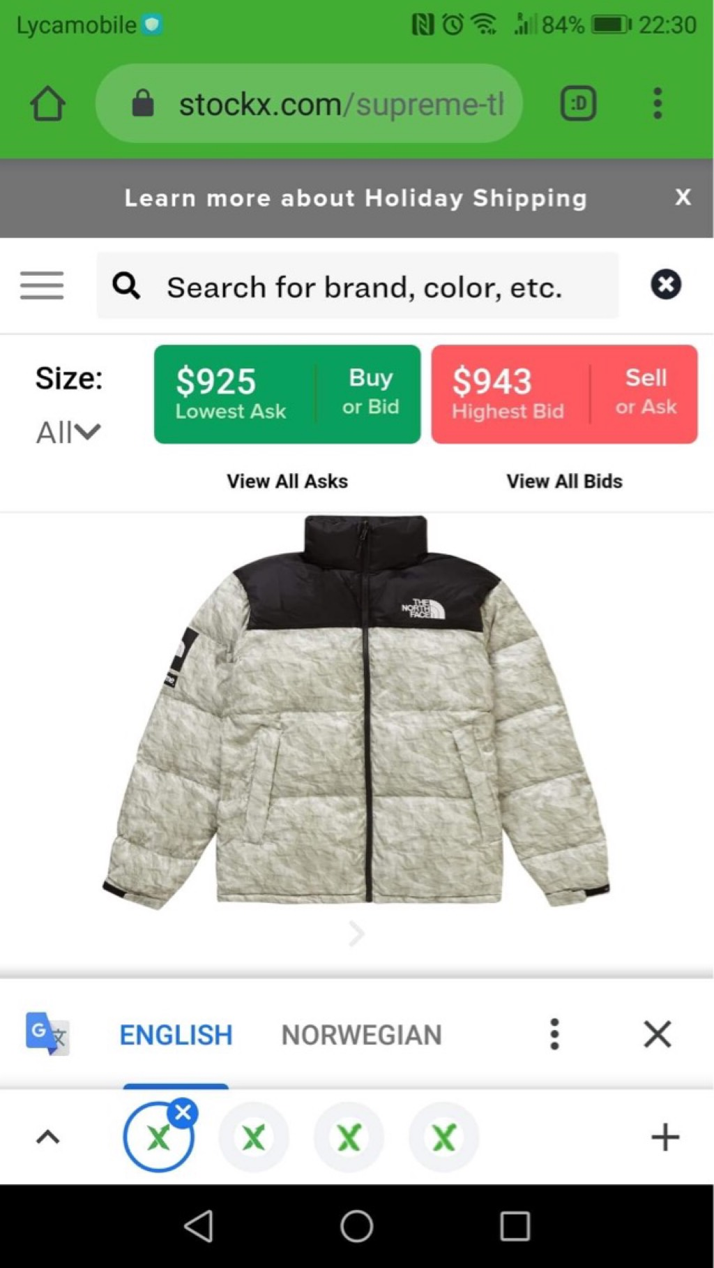 Supreme The North Face jacket with receiptSupreme2