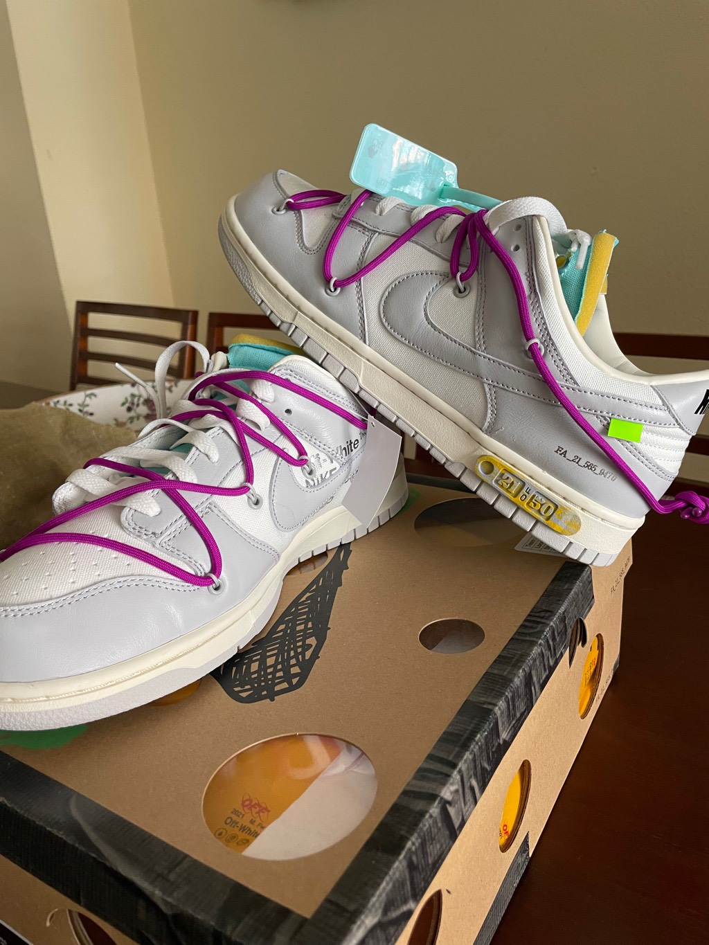Dunk off white Lote 21 Off-White x Nike1